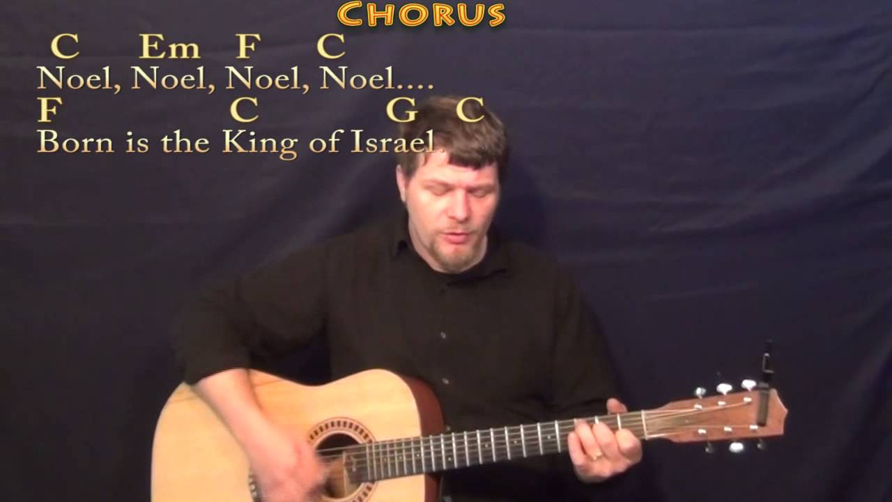 The First Noel Strum Guitar Cover Lesson In C With Chordslyrics