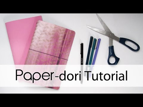 Paper-dori Tutorial | Fauxdori / Midori / Traveler's Notebook DIY | Creation in Between
