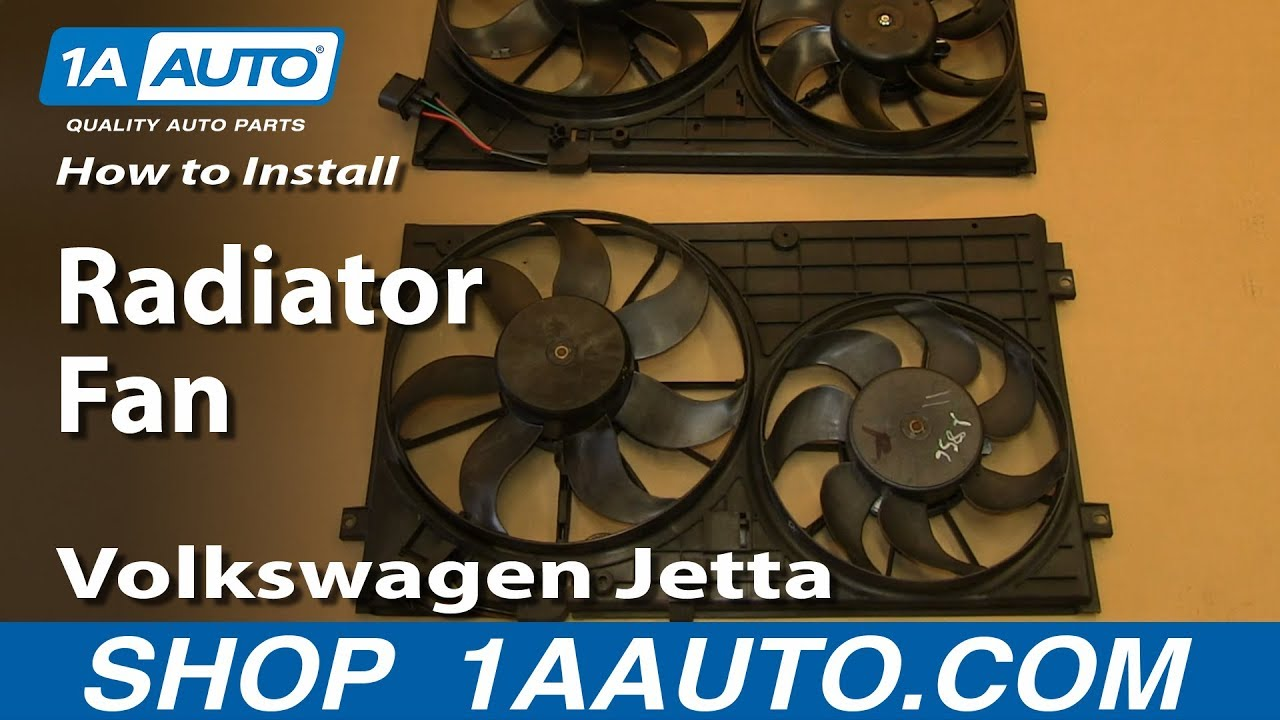 How To Install Replace Radiator Fan 2005 10 25l Volkswagen Jetta Audi Control Module Wiring Youtube
