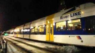 Riverline Diesel Light Rail in New Jersey and Bus