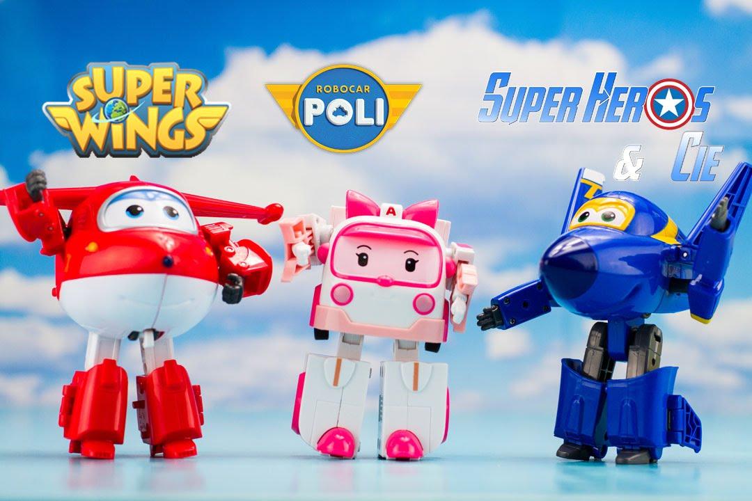 Super wings robocar poli robots transformables jouets - Dessin anime robocar poli ...