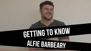 Getting to Know Alfie Barbeary