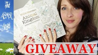 ASMR - Colouring in with Whispering - Adult Colouring Books Giveaway