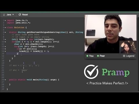Java Coding Interview Practice on Pramp