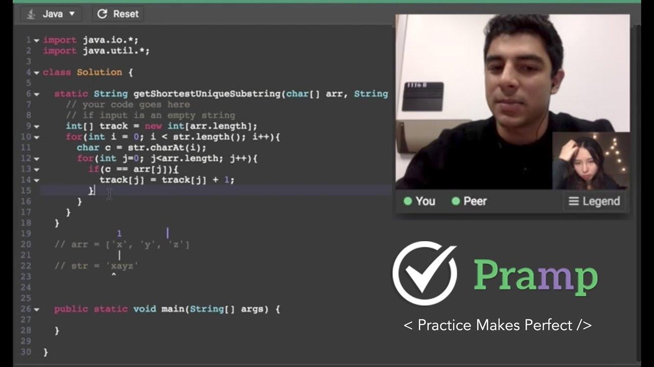 Java Coding Interview Practice on Pramp