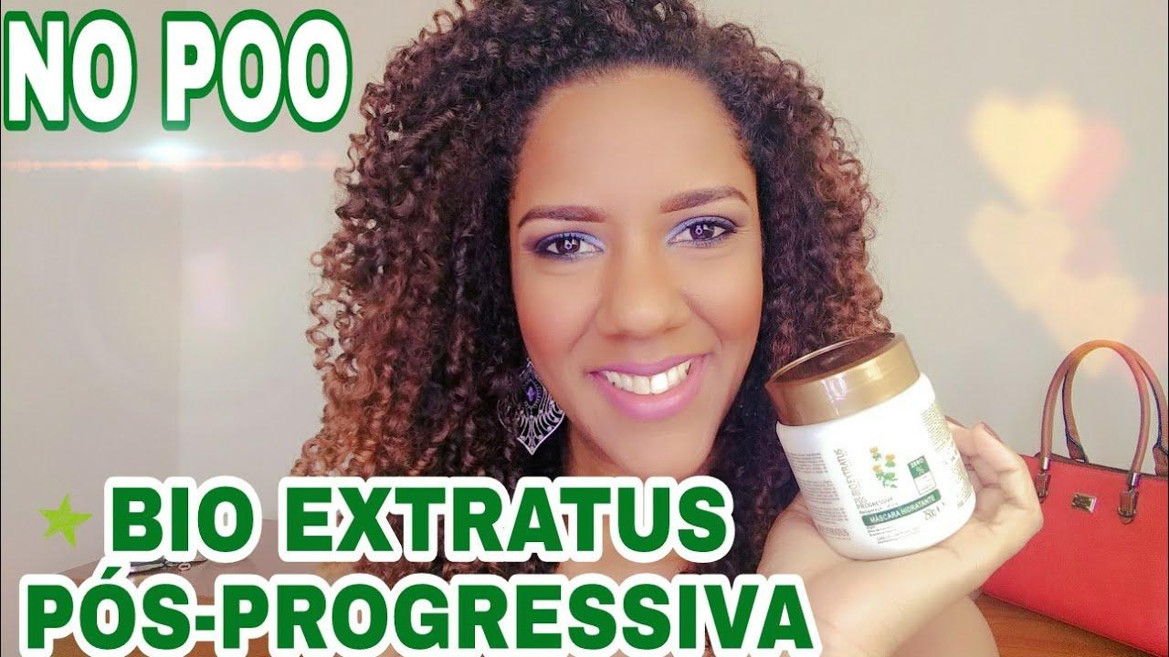 Mascara De Hidratacao Bio Extratus Pos Progressiva No Poo Youtube