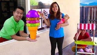 Funny Ice Cream Cones Drive Thru Pretend Play Kids Toys