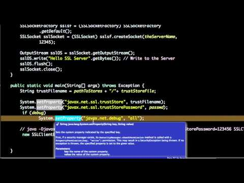 ssl client example in java - YouTube
