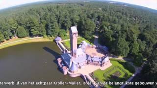 Jachthuis Sint Hubertus vanuit de lucht
