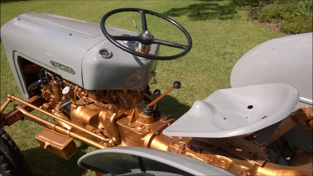 Restored Ferguson FE35 Grey and Gold First Drive - YouTube Fergie