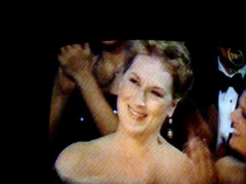 Oscar 2008  Jackman con Jolie y Streep