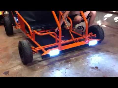Hook up lights on go kart