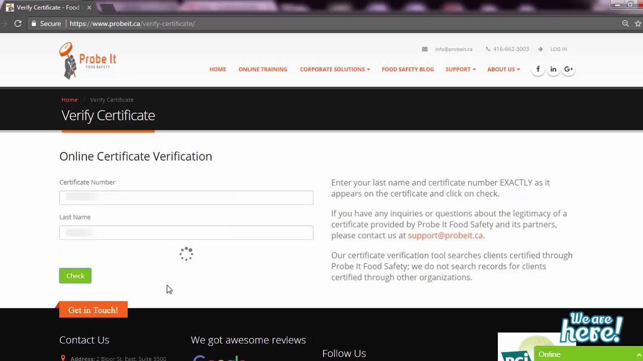How To Verify Your Food Handler Certificate Youtube
