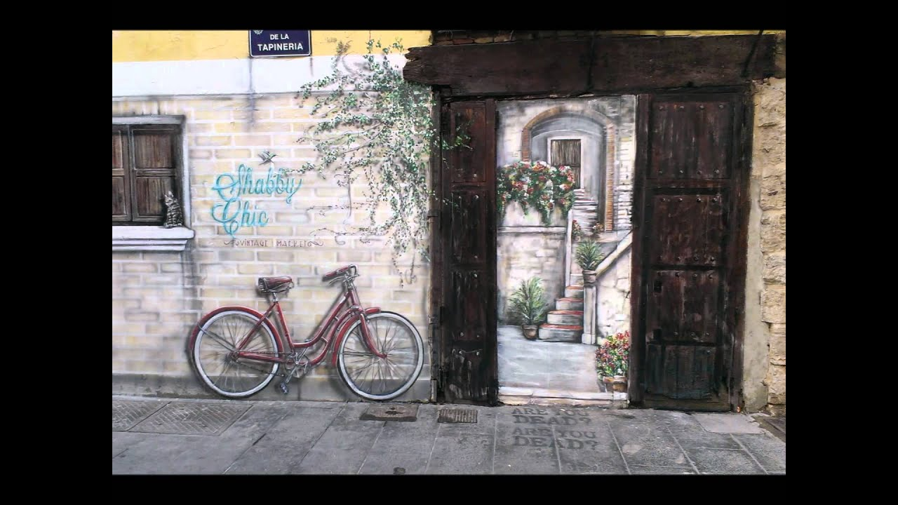 Shabby chic vintage market valencia calle tapineria mural - Vintage valencia ...