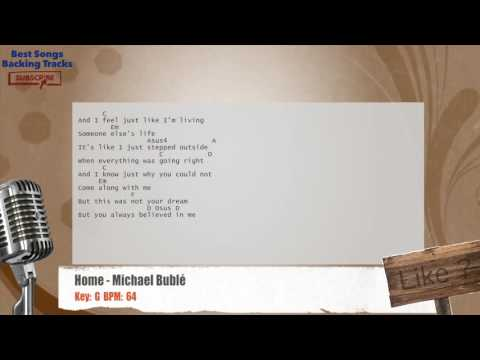Home - Michael Bublé Vocal Backing Track with chords and lyrics