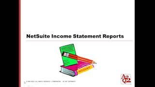 #71 |  NetSuite Customized Income Statement