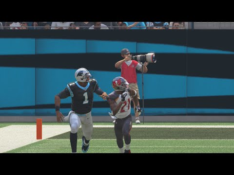 Can Cam Newton Throw a 99yd Touchdown Pass to Himself!?? Funny Madden Gameplay
