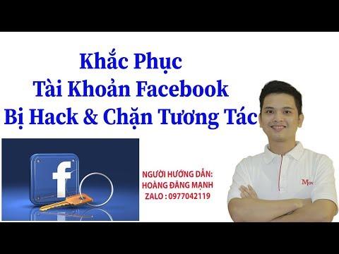 cách xử lý khi tài khoản facebook bị hack - Cách Khắc Phục Tài Khoản Facebook Bị Hack & Mở Nick Bị Chặn Tương Tác