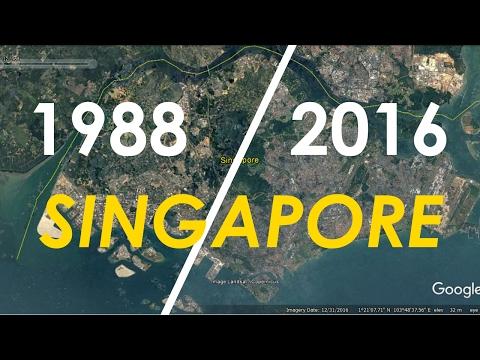 Singapore Area Timelapse 1988 - 2016