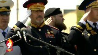 Грозный. Парад Победы 9 мая 2016(В Параде Победы в Грозном приняли участие более 3 тысяч человек. Под аккомпанемент военного оркестра 46-й..., 2016-05-09T12:36:31.000Z)