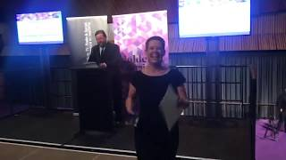 Director, Liane accepts 2017 Australian Medium Agency of the Year Award