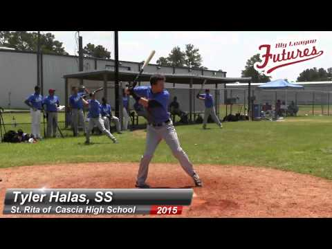 TYLER HALAS PROSPECT VIDEO, SS, ST RITA OF CASCIA HIGH SCHOOL CLASS OF 2015 @BIGLEAGUEFUTURE