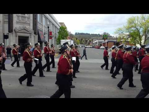 The Dalles Marching Band at Cherry Festival 2017
