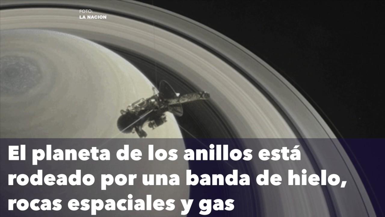 Sonda Cassini se sumerge en los anillos de Saturno