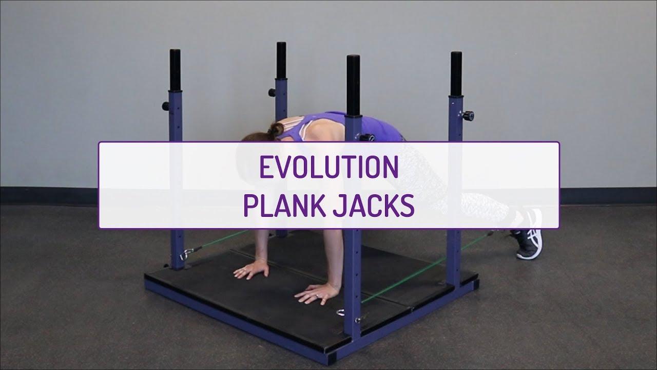 Home Exercises | Evolution Plank Jacks | Cardio & Core | Legs