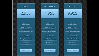 Photoshop Graphic Design Tutorial How to Create Simple Price Table in Photoshop CS6