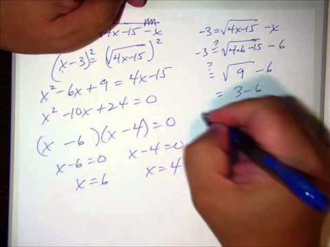 Solving Radical Equations Part 2 Youtube