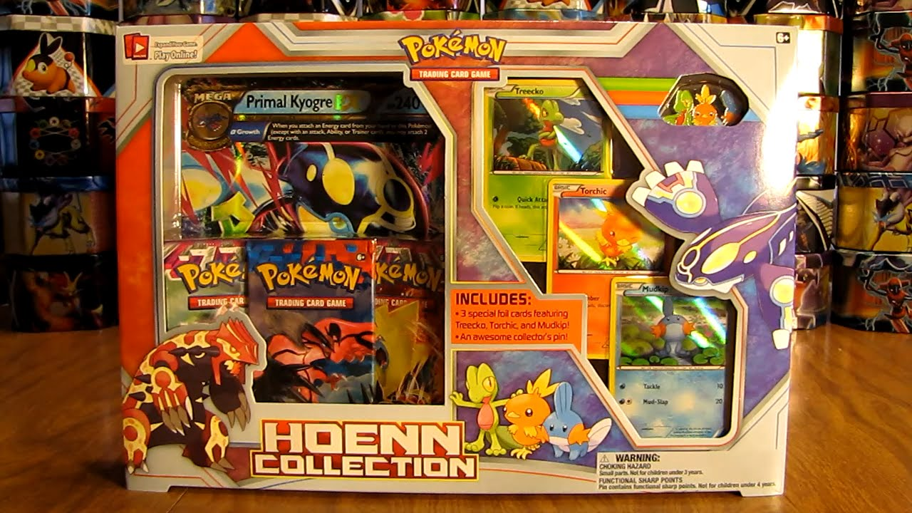 Primal kyogre hoenn collection box opening youtube