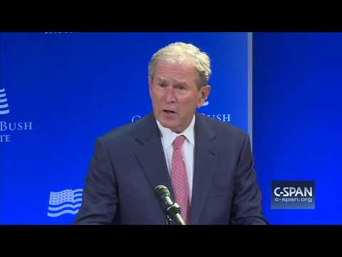 President Bush full remarks at Bush Institute Summit (C-SPAN)