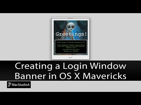 Create A Login Banner In Mac OS X Mavericks