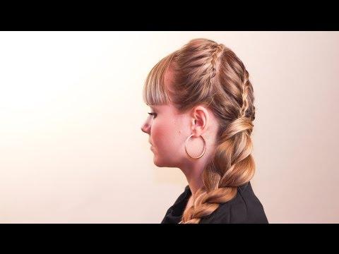 Прическа с элементами греческого плетения. Hairstyle with elements of Greek braiding