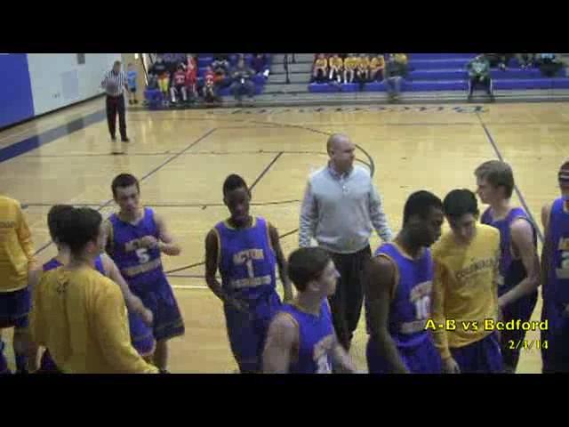 Acton Boxborough Varsity Boys Basketball @ Bedford 2/4/14