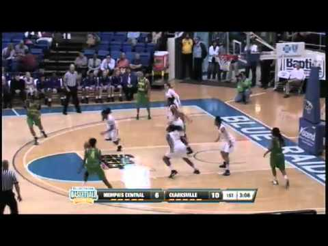 Memphis Central's Danielle Ballard gets the steal and score