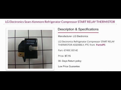 LG 6749c 0014e LG Refrigerator Compressor Start Relay PartsIPS