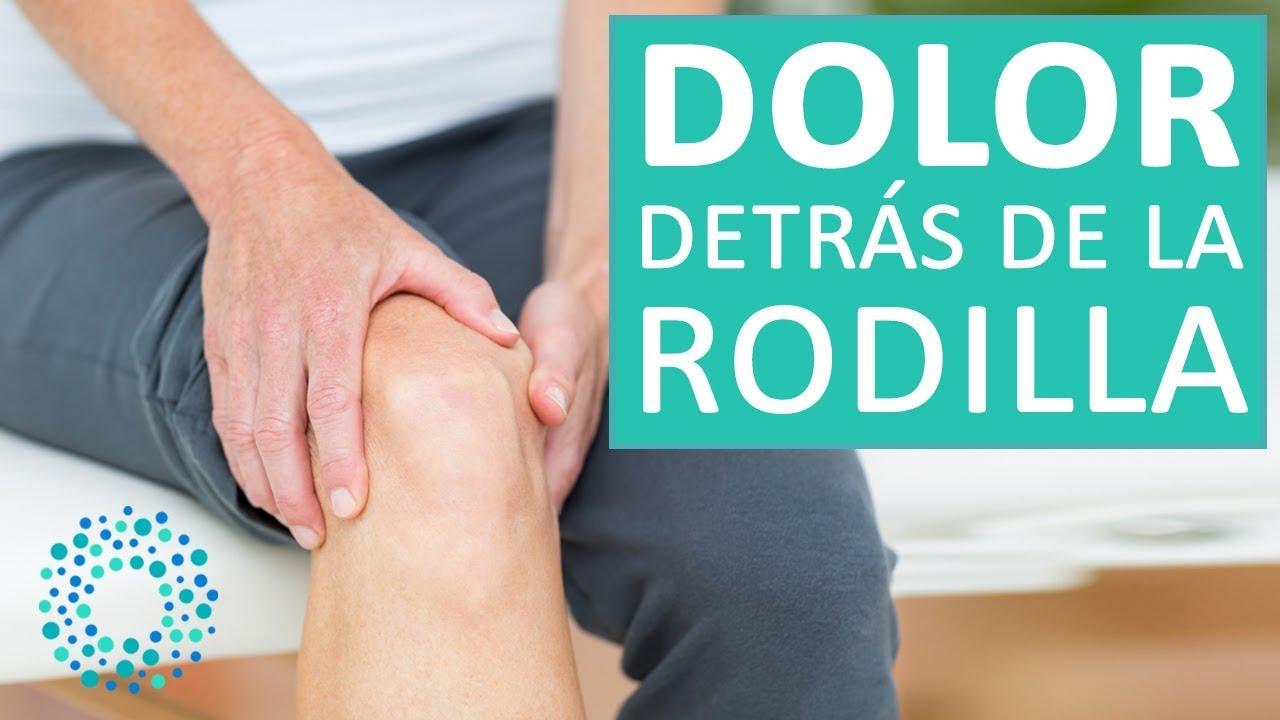 dolor intenso parte posterior de la rodilla