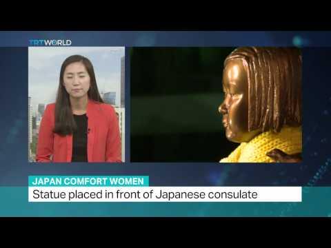Japan Comfort Women: South Korea protesters erect a symbolic statue