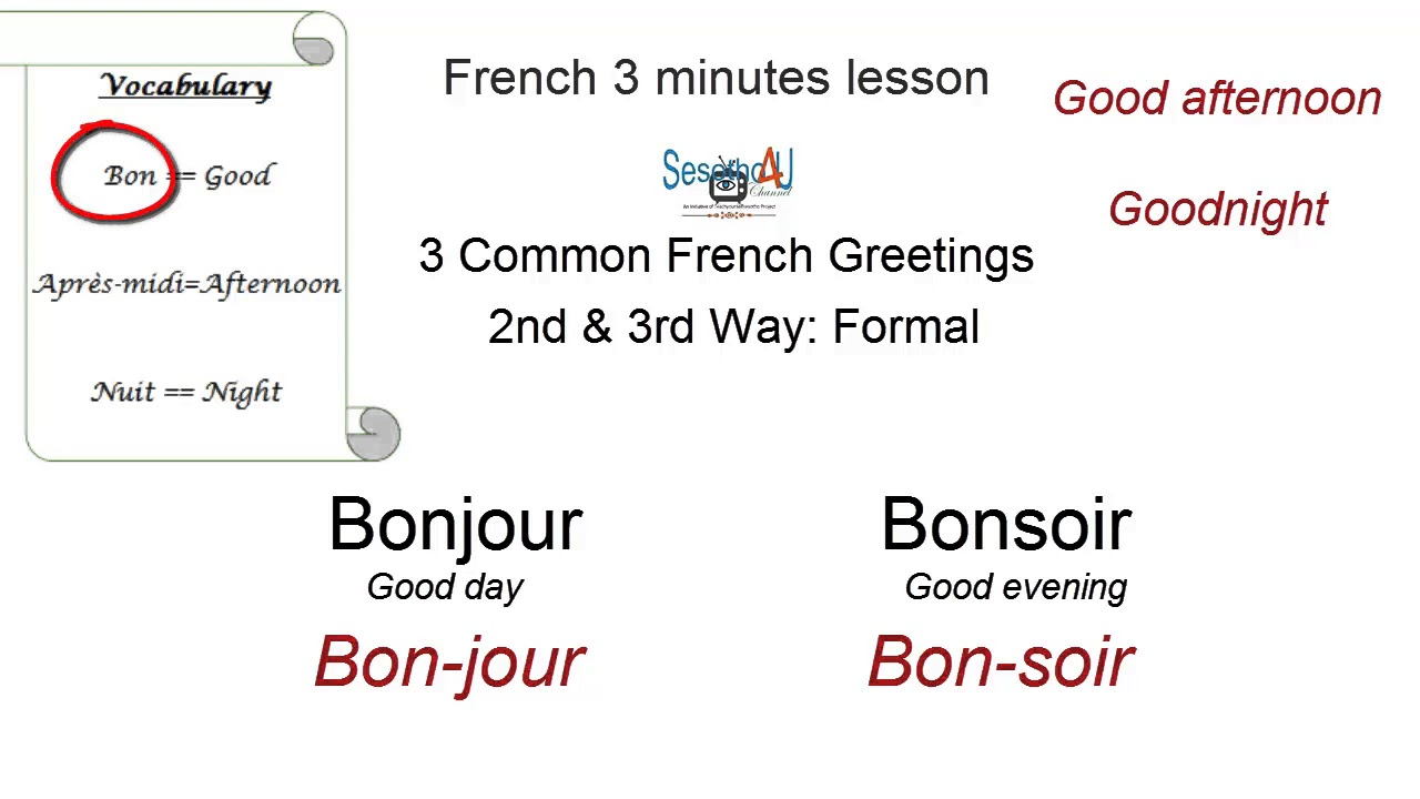 French 3 Ways To Greet People Youtube