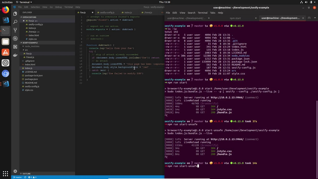 Sesify - secure javascript browserify plugin