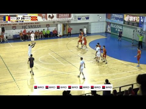 ROMANIA vs MACEDONIA // Handball Men's U18