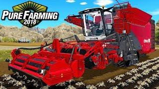 Duży kombajn ziemniaczany - Pure Farming 2018 | #46