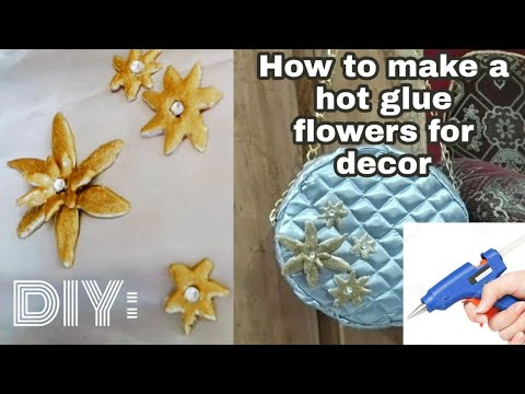 DIY Hot Glue Flowers for Decor | Hot Glue Gun Arts/Crafts