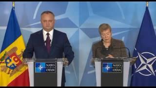 Пресс-конференция Игоря Додона по итогам встречи в штаб-квартире НАТО