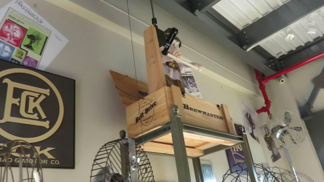 Antique Belt Driven Ceiling Fans At The Fanimation Museum