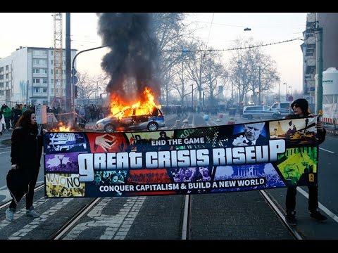 #Blockupy protesters clash with Frankfurt police