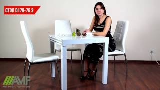 Стол обеденный раздвижной B179-76-2. Обзор стола для кухни от amf.com.ua