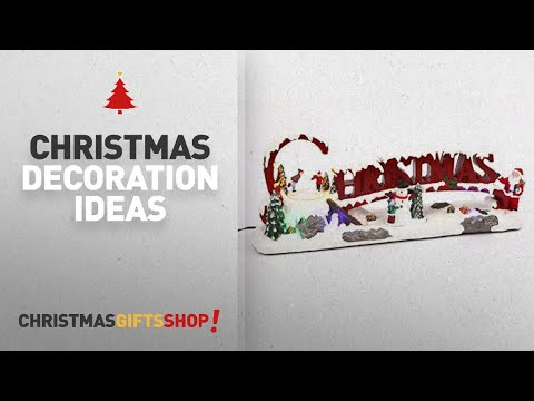 Top Christmas Decorations Animated: LED Lighted Musical Christmas Winter Scene with Animated Moving